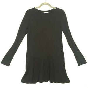 Zara Trafaluc Long Sleeve Drop Waist Black Fall
